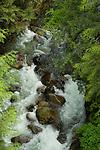 Waterfalls close to Squamish. North Vancouver, British Columbia, Canada.