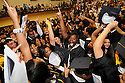 "Joe Imel/Daily News. Bowling Green High School seniors shout ""08"" Sunday  following  the 97th commencement exercises of Bowling Green High School. The school conferred diplomas to 250 seniors."