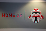27 April 2007: A wall in the under the West Stand next to the player's entry tunnel.  BMO Field in Toronto, Ontario, Canada on the day before it was scheduled open with the inaugural home match of Major League Soccer expansion team Toronto FC.