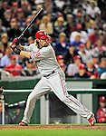 29 September 2010: Philadelphia Phillies' outfielder Jayson Werth in action against the Washington Nationals at Nationals Park in Washington, DC. The Phillies defeated the Nationals 7-1 to take the rubber game of their 3-game series. Mandatory Credit: Ed Wolfstein Photo