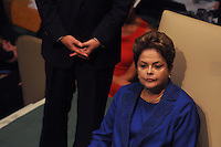 NEW YORK, USA - SEPT 25, U.S. Ex President  of Brazil  Dilma Rouseff during the 69 session of the General Assembly on September 25.2014 photo by VIEWpress