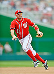 20 May 2012: Washington Nationals third baseman Ryan Zimmerman in action against the Baltimore Orioles at Nationals Park in Washington, DC. The Nationals defeated the Orioles 9-3 to salvage the third game of their 3-game series. Mandatory Credit: Ed Wolfstein Photo