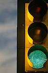Traffic light green at intersection Woodinville Washington State USA