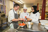 Mark Anderson of the Ruddington Arms with Pappa Sage and Madinah Farooq