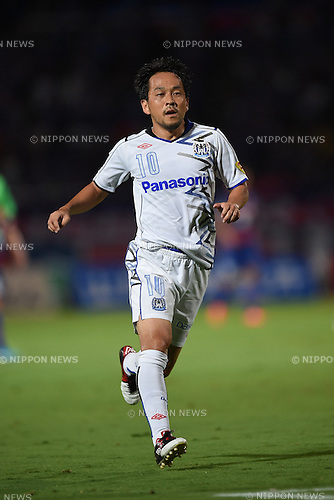Takahiro Futagawa (Gamba),<br /> AUGUST 23, 2014 - Football / Soccer :<br /> 2014 J.League Division 1 match between Ventforet Kofu 3-3 Gamba Osaka at Yamanashi Chuo Bank Stadium in Yamanashi, Japan. (Photo by AFLO)