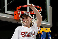 SPOKANE, WA - MARCH 28, 2011: Lindy La Rocque, Stanford Women's Basketball vs Gonzaga, NCAA West Regional Finals at the Spokane Arena on March 28, 2011.