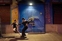 Cristian and Jessica, couple dancing tango in La Boca.