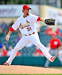 3 March 2011: St. Louis Cardinals' pitcher Ryan Franklin in action during a Spring Training game against the Washington Nationals at Roger Dean Stadium in Jupiter, Florida. The Cardinals defeated the Nationals 7-5 in Grapefruit League action. Mandatory Credit: Ed Wolfstein Photo