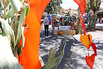 Decorations add color to the children's ally at the Los Altos Fall Festival.