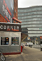 Diner, One Kenmare Square, 210 Lafayette Street, designed by Richard Gluckman, Soho, Manhattan,New York City, New York, USA