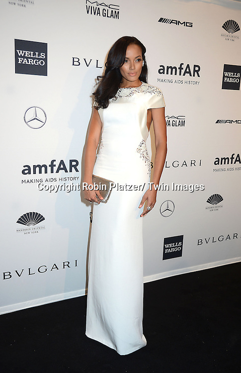 Selita Ebanks attends the amfAR New York Gala on February 5, 2014 at Cipriani Wall Street in New York City.