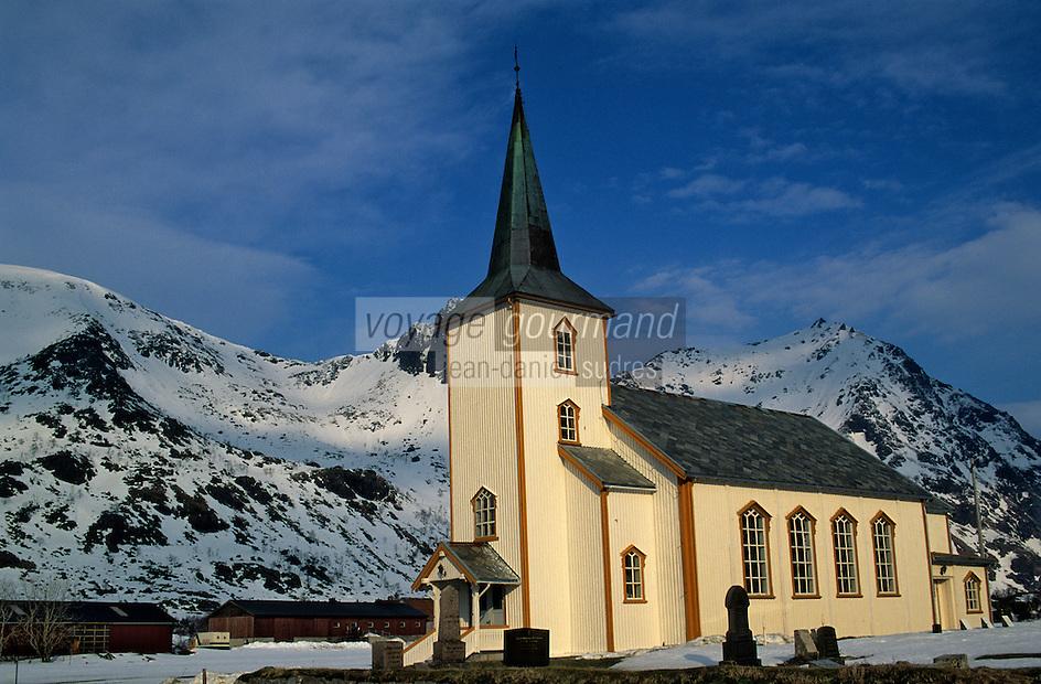 Europe/Norvège/Iles Lofoten/Valberg: l'eglise