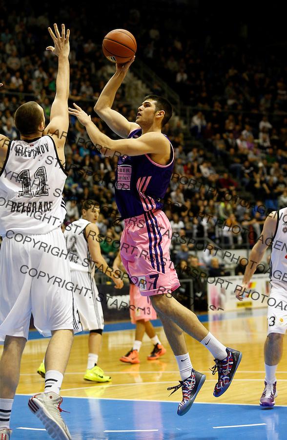 Aleksandar Marelja ABA liga, Partizan - Mega Leks, Beograd, Srbija, 7.12.2014 (credit image & photo: Pedja Milosavljevic / STARSPORT). © 2014 Pedja Milosavljevic / +318 64 1260 959 / thepedja@gmail.com