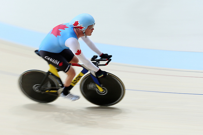 Rio de Janeiro-4/9/2016-Ross Wilson during training before his cycling event at the Rio 2016 Paralympic Games at the Barra Velodrome. Photo Scott Grant/Canadian Paralympic Committee