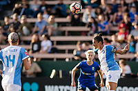 Seattle, WA - Sunday, May 21, 2017: Ali Krieger during a regular season National Women's Soccer League (NWSL) match between the Seattle Reign FC and the Orlando Pride at Memorial Stadium.