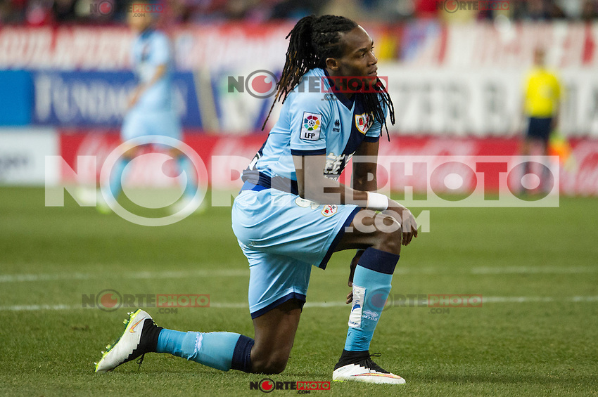 Rayo Vallecano&acute;s Manucho during 2014-15 La Liga match between Atletico de Madrid and Rayo Vallecano at Vicente Calderon stadium in Madrid, Spain. January 24, 2015. (ALTERPHOTOS/Luis Fernandez) /NortePhoto<br />