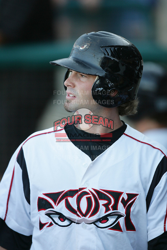 September 6 2009:  Brad Chalk of the Lake Elsinore Storm during game against the San Jose Giants at The Diamond in Lake Elsinore,CA.  Photo by Larry Goren/Four Seam Images