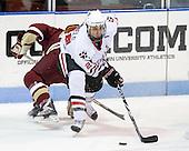 Drew Daniels (Northeastern - 24) - The Northeastern University Huskies defeated the visiting Boston College Eagles 2-1 on Saturday, February 19, 2011, at Matthews Arena in Boston, Massachusetts.