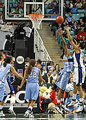 Krystal Thomas takes a shot in the first half.This was the Championship game of the 2011 ACC Tournament in Greensboro on March 6, 2011. Duke beat UNC 81-66. (Photo by Al Drago)