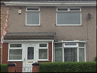 BNPS.co.uk (01202 558833)<br /> Pic: HomesBoughtFast/BNPS<br /> <br /> ***Use full Byline***<br /> <br /> Money can't buy you love... but it can buy you the childhood home of Beatles star George Harrison which has gone on the market for a mystery sum.<br /> <br /> The humble three-bed terrace was home to Harrison and his family in the 1950s and was where he and his friends Paul McCartney and John Lennon held their first band rehearsals.<br /> <br /> Harrison lived at the property, on a housing estate in Liverpool, until the early 1960s when the Beatles rocketed to international superstardom.<br /> <br /> The historic home has now been put up for auction - but its sellers are remaining tight-lipped about how much they expect it to fetch.<br /> <br /> It comes just a year after John Lennon's unassuming childhood home in Liverpool was snapped up at auction by a Beatles fan for 480,000 pounds - three times the initial 150,000 pounds estimate.
