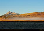 Mist at Sunrise, Swan Lake Flats, Electric Peak, Yellowstone National Park, Wyoming