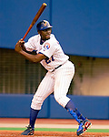 23 April 2003: Vladimir Guerrero, all-star outfielder for the Montreal Expos, at bat during a game against the Arizona Diamondbacks at Olympic Stadium in Montreal, Canada. Mandatory Credit: Ed Wolfstein Photo