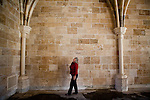 Pam Sparks visits the unfinished Chapter House of New Clairvaux monastery in Vina, Calif., January 2, 2013. The Chapter House is built from 12th century stones from the Chapter House of Ovila in Spain. Originally purchased by William Randolph Hearst, they were left abandoned in Golden Gate Park for over 60 years.