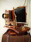 Thornton Pickard wooden bellows view camera