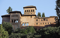Tower of the Ladies (Partal), Mirador built by Muhammad III, 1302 ? 1309, The Alhambra, Granada, Andalusia, Spain. Picture by Manuel Cohen