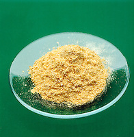 SAMPLE OF GOLD POWDER - Green background<br />