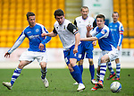 St Johnstone v Inverness Caley Thistle.....27.04.13      SPL.Gwion Edwards gets away from Aaron Doran.Picture by Graeme Hart..Copyright Perthshire Picture Agency.Tel: 01738 623350  Mobile: 07990 594431