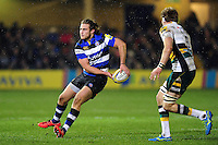 Max Clark of Bath Rugby looks to pass the ball. Aviva Premiership match, between Bath Rugby and Northampton Saints on February 10, 2017 at the Recreation Ground in Bath, England. Photo by: Patrick Khachfe / Onside Images