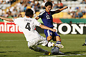 SOCCER/FUTBOL.MUNDIAL FIFA SUB17 2011.OCTAVOS DE FINAL.JAPON VS NUEVA ZELANDA.Action photo of Fumiya Hayakawa (R) of Japan and Reece Lambert (L) of New Zealand, during game of the FIFA Under 17 World Cup game, held at Monterrey./Foto de accion de Fumiya Hayakawa (D) de Japon y de Reece Lamber (I) de Nueva Zelanda, durante juego de la Copa del Mundo FIFA Sub 17, celebrado en Monterrey, 29 June 2011. MEXSPORT/JORGE MARTINEZ