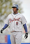 11 March 2008: Detroit Tigers' shortstop Edgar Renteria in action during a Spring Training game against the Cleveland Indians at Chain of Lakes Park, in Winter Haven Florida.The Tigers rallied to defeat the Indians 4-2 in the Grapefruit League matchup....Mandatory Photo Credit: Ed Wolfstein Photo
