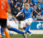St Johnstone v Dundee United...27.08.11   SPL Week 5.Liam Craig scores from a free kick to make it 2-1.Picture by Graeme Hart..Copyright Perthshire Picture Agency.Tel: 01738 623350  Mobile: 07990 594431