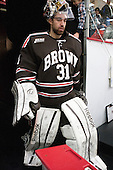 Marco De Filippo (Brown - 31) - The visiting Brown University Bears defeated the Harvard University Crimson 2-0 on Saturday, February 22, 2014 at the Bright-Landry Hockey Center in Cambridge, Massachusetts.
