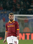 Calcio, Serie A: Roma vs Udinese. Roma, stadio Olimpico, 28 ottobre 2012..AS Roma midfielder Daniele De Rossi looks on during the Italian Serie A football match between AS Roma and Udinese, at Rome, Olympic stadium, 28 October 2012..UPDATE IMAGES PRESS/Riccardo De Luca