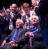 Conservative Party Conference<br /> Manchester, Great Britain <br /> 4th October 2015 <br /> Day 1<br /> <br /> Flying Officer Ken Wilkinson <br /> Squadron Leader Tony Pickering <br /> <br /> <br /> Photograph by Elliott Franks <br /> Image licensed to Elliott Franks Photography Services