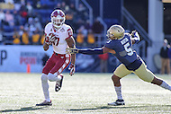 Annapolis, MD - December 3, 2016: Temple Owls wide receiver Adonis Jennings (17) avoids Navy Midshipmen linebacker Justin Norton (5) tackle during game between Temple and Navy at  Navy-Marine Corps Memorial Stadium in Annapolis, MD.   (Photo by Elliott Brown/Media Images International)