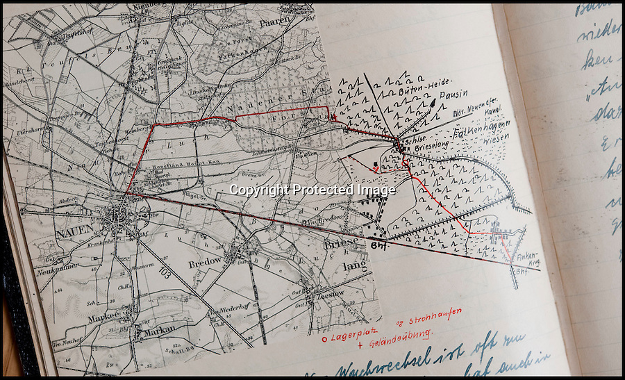 BNPS.co.uk (01202 558833)<br /> Pic: Mullocks/BNPS<br /> <br /> ***Please Use Full Byline***<br /> <br /> Helmut Nieboy's 'incredibly detailed map of a march.<br /> <br /> Sinister archive illustrating the Nazi brainwashing of German youth comes to light...<br /> <br /> A chilling archive of an enthusiastic member of the Hitler Youth has emerged to highlight how the Nazi's brainwashed German children in the build up to WW2<br /> <br /> Helmut Nieboy kept detailed diaries during his time with the German equivalent of the Boy Scouts from 1933.<br /> <br /> Helmut also amassed a number of photographs of his time with the paramilitary group, showing the youngsters sitting around a campfire, marching and at rallies. <br /> <br /> The diaries also include incredibly detailed route marches as well as hand drawn portraits of the beloved Fuhrer with patriotic slogans.<br /> <br /> The archive, that also includes his Hitler Youth tent, knife and trumpet, are being sold by Mullock's Auctioneers of Shropshire.