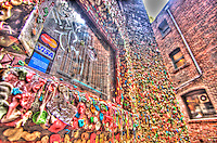 The Seattle Gum wall at Pike Place Market - more chewed gum on the wall then you might imagine. Even more impressive? In a wet city, the gum hasn't left in years. (HDR version)