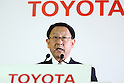 May 11, 2010 - Tokyo, Japan - Akio Toyoda, President of Toyota Motor Corp., answers journalists' questions during a press conference at the Tokyo head office, Japan, on May 11, 2010. Despite a global safety recall crisis, Toyota said it swung back to a net profit of 209.4 billion yen ($2.2 billion) for the business year that ended March 31, reversing from a loss of 437 billion yen the previous year.