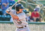 1 September 2014: Tri-City ValleyCats catcher Jamie Ritchie at bat as the designated hitter against the Vermont Lake Monsters at Centennial Field in Burlington, Vermont. The ValleyCats defeated the Lake Monsters 3-2 in NY Penn League action. Mandatory Credit: Ed Wolfstein Photo *** RAW Image File Available ****
