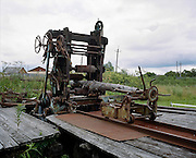 A power saw. Perm province, Russia 2015