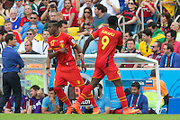 Romelu Lukaku of Belgium is replaced by Divock Origi