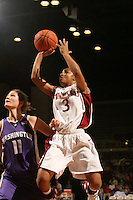 23 February 2006: Markisha Coleman during Stanford's 100-69 win over the Washington Huskies at Maples Pavilion in Stanford, CA.