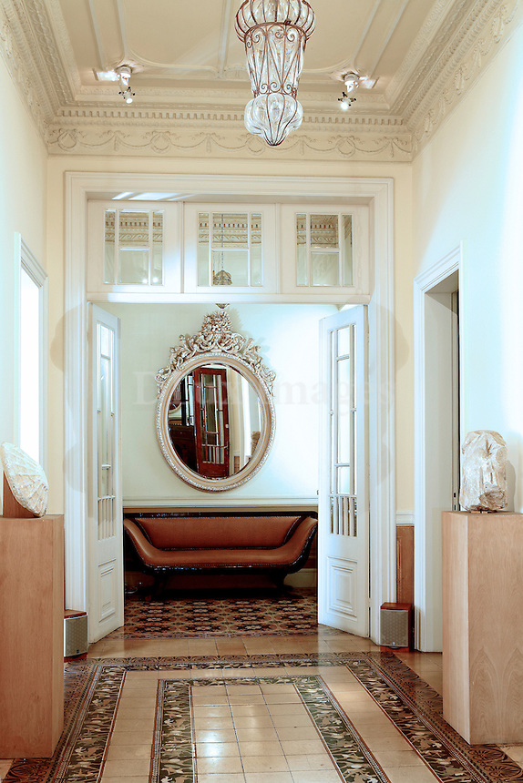 Greek architect George Zafiriou tastefully restored this neo-classical building in the center of Athens.  The five-floor home features minimal-style decor and breathtaking views of the Acropolis.?