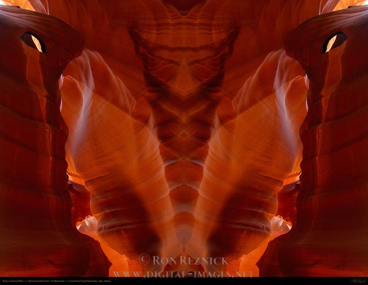 Bears and Fractal Wolf, Fractal Composite, Upper Antelope Canyon, Tse-Bighanilini, Slot Canyon, Lake Powell Navajo Tribal Park, Page, Arizona