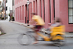 Charleston Bike Taxi Rickshaw ride motion blur