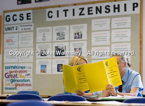 Citizenship class, state secondary School.